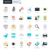 Set of flat design vector icons for business