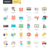 Set of flat design vector icons for online shopping and e-commerce