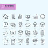 Thin line icons set Universal icons for website and app design