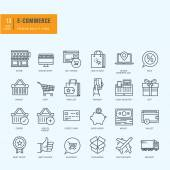 Thin line icons set Icons for e-commerce online shopping