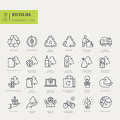 Thin line icons set Icons for recycling environmental