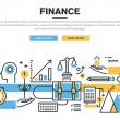 Flat line design concept for finance, market analy...