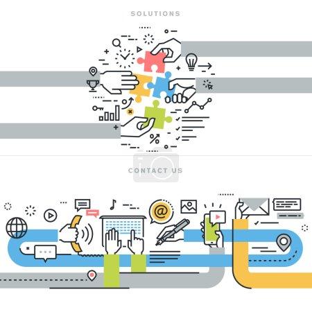 Illustration pour Concepts pour la bannière de site Web et le matériel imprimé . - image libre de droit
