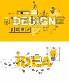 Set of modern vector illustration concepts of words design and idea