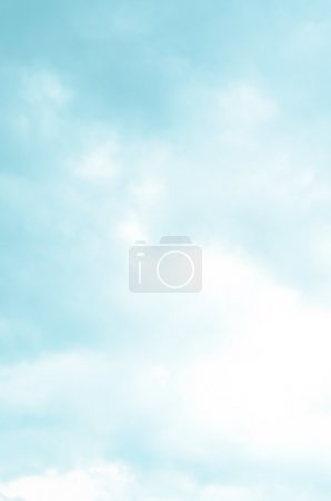 Abstract background from defocused blue and clouds sky