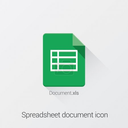 Document format icon. Flat UI