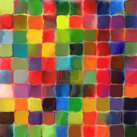 Abstract rainbow color paint tiles pattern art background