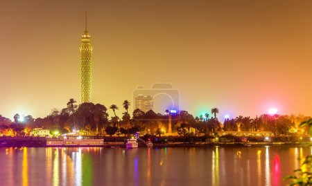 View of the Cairo tower in the evening - Egypt...
