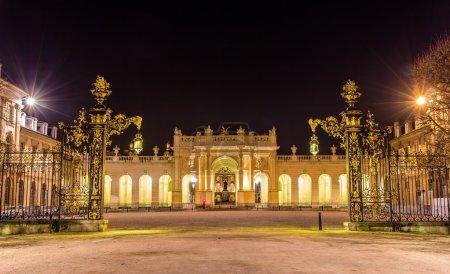Photo pour Arc Ici vu de Place de la Carrière - Nancy, Lorraine, France - image libre de droit