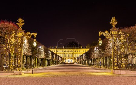 Photo pour Place de la Carrière, site du patrimoine mondial de l'UNESCO à Nancy, France - image libre de droit