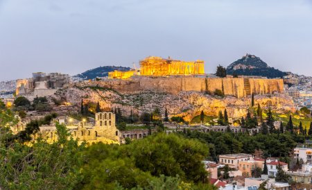 Photo for View of the Acropolis of Athens - Greece - Royalty Free Image