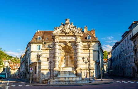 Fontaine de la place Jean-Cornet in Besancon, France
