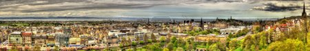 Photo for Panorama of Edinburgh from the Castle - Scotland - Royalty Free Image