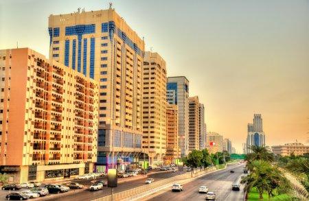Sheikh Rashid Bin Saeed Al Maktoum street in Abu Dhabi