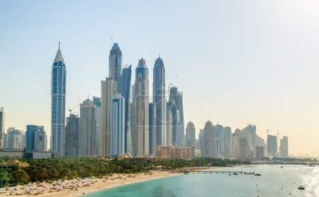 View of Jumeirah district in Dubai, UAE...