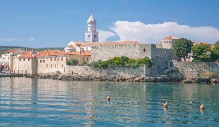Krk Town on Krk Island,adriatic Sea,Kvarner,mediterranean Sea,Croatia