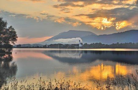 Lake Forggensee,Schwangau,Fuessen,Allgaeu,Bavaria,Germany