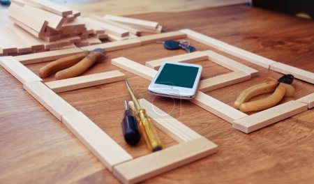 Construction plan for house building, keys . Real Estate Concept