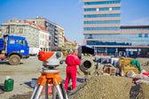 Geodetických zařízení k projektu výstavby infrastruktury