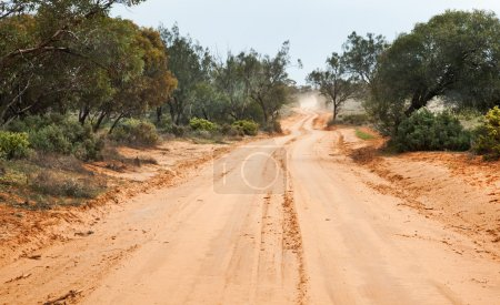 Outback road to Lake Mungo