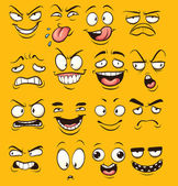 Funny cartoon faces Vector clip art illustration with simple gradients Each face on a separate layer