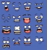 Crazy cartoon faces
