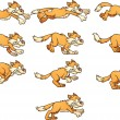 Angry cat run cycle. Ready for animation. Vector c...