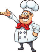 Fat cartoon chef