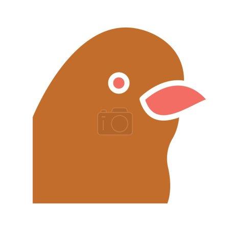 Illustration pour Icône vectorielle isolée de pingouin qui peut être facilement modifiée ou éditée - image libre de droit