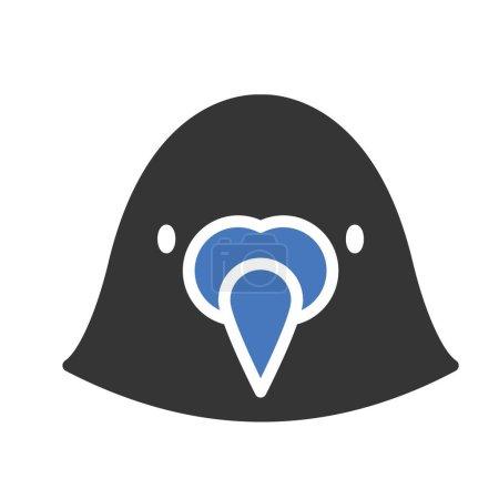 Illustration pour Icône vectorielle isolée Puffin qui peut être facilement modifiée ou éditée - image libre de droit