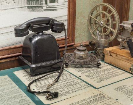 Workplace of telegraph operator