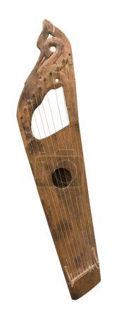 Wing-shaped nine-stringed gusli. String plucked musical instr
