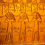 Hieroglyphics on King Tut's Tomb...