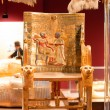 King Tut's Throne on display...