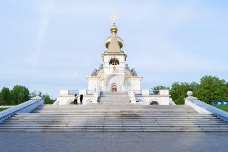 The Church of St. Serafim Sarovsky on a spring evening