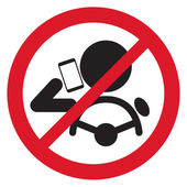 No Smartphone when drive Sign vector illustration
