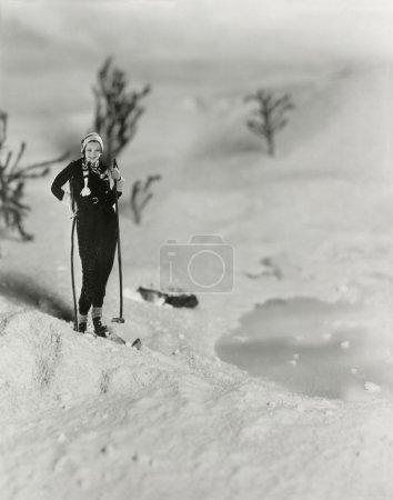 Photo pour Femme ski de fond - image libre de droit