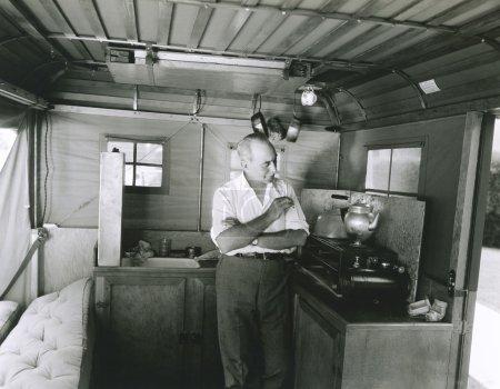 Man preparing tea