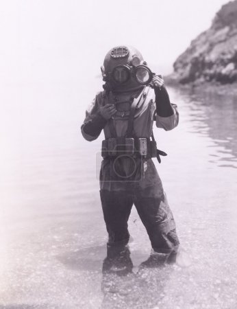 Photo for Male Deep sea diver - Royalty Free Image