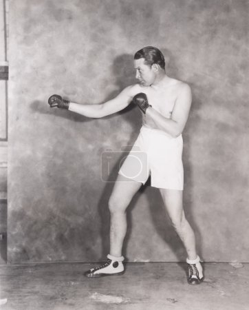 young man training