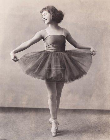 happy Ballerina en pointe