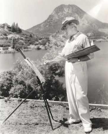 Landscape painter working