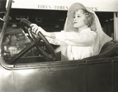 woman Driving with confidence