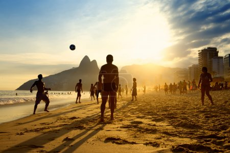Rio Beach Football Brazilians Playing Altinho