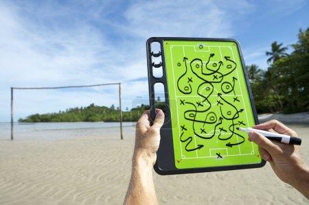 Soccer Football Tactics Board Brazil Beach