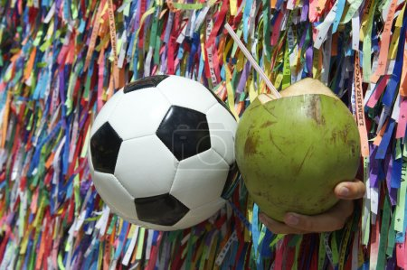 Football and Coconut Salvador Bahia Brazil