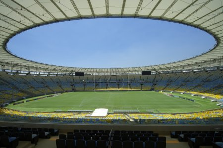 Maracana Football Stadium Seating and Pitch