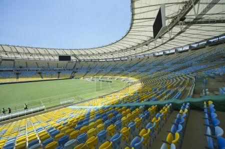 Maracana Football Stadium Seating and Pitch