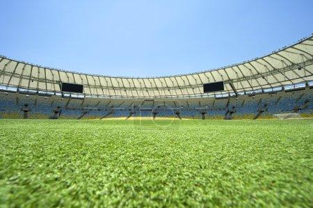 Maracana Football Stadium Pitch Level View