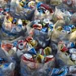 Постер, плакат: Brazilian Drinks Cans Recycling Pile